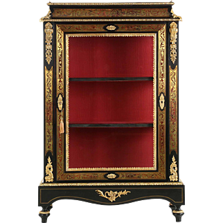 French Napoleon III Style Bookcase Display Cabinet, 20th Century