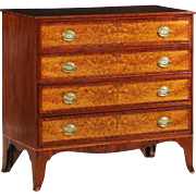 American Federal Birch Inlaid Chest of Drawers, Massachusetts c. 1788