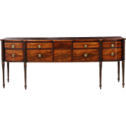 Fine American Federal Mahogany Antique Sideboard, Massachusetts c. 1805-15