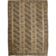 Antique Worn Room Size Geometrical Rug, early 20th century