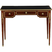 Fine French Louis XVI Style Mahogany Bureau Plat Writing Desk, c. 1900