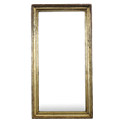 Antique Distressed Giltwood Wall Mirror, 19th century