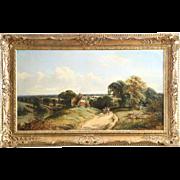Edwin Meadows Antique British Landscape Painting of Sussex c. 1862