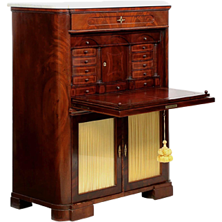 Fine American Mahogany Secrétaire à Abattant Desk, 19th Century