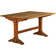 English Arts & Crafts Oak Breakfast Dining Table, 19th century