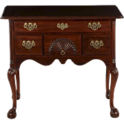 American Chippendale Style Mahogany Lowboy Chest of Drawers