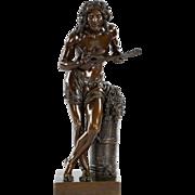 """François-Joseph Duret (1804-65) """"Improvisateur"""" French Bronze Sculpture"""