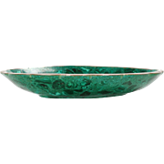Green Malachite and Bronze Decorative Bowl
