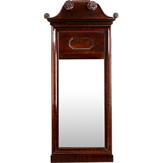 Neoclassical Mahogany Carved Pier Mirror, 19th c.