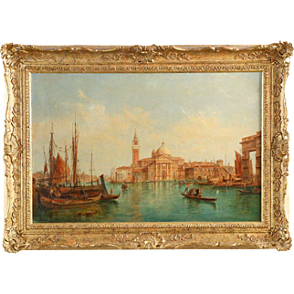 """Alfred Pollentine Venetian Painting """"View of San Giorgio"""""""