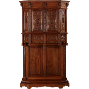 French Gothic Revival Intricately Carved Cupboard, circa 1880