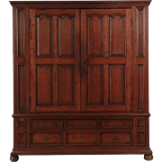 American Chippendale Cherrywood Antique Armoire Shrank circa 1770-90