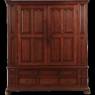 American Chippendale Cherrywood Antique Armoire Shrank circa 1770-90