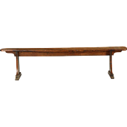 Antique English Hallway Bench, Tenon-Mortised, circa late 18th century