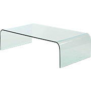 Waterfall Modern Glass Coffee Table by Angelo Cortesi for Fiam Italia