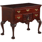 American Chippendale Style Mahogany Antique Lowboy Chest of Drawers