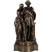 French Antique Bronze Sculpture by Eugene Aizelin and F. Barbedienne