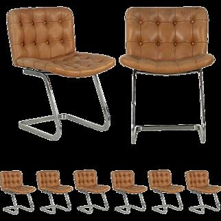 Set of Eight Robert Haussmann for Stendig Vintage Dining Chairs