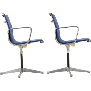 Vintage Pair of Early Charles Eames for Herman Miller Office Chairs