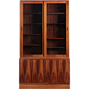 Poul Hundevad Danish Mid Century Modern Rosewood Bookcase Cabinet