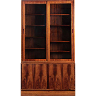 Poul Hundevad Danish Mid Century Modern Rosewood Bookcase Cabinet