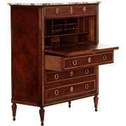French Louis XVI Style Antique Secretary Desk by Maison Forest, Paris c. 1900