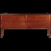 Scandinavian Mid Century Modern Rosewood Cabinet Console circa 1960s
