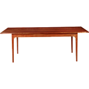 American Shaker Style Handmade Cherrywood Dining Table, 20th Century
