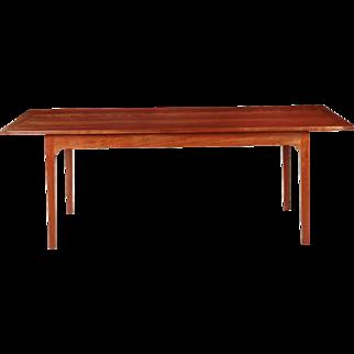 American Shaker Style Handmade Cherrywood Dining Table, 20th Century