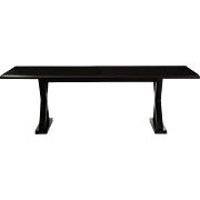 """Courrier"" by Christian Liaigre Modern Ebonized Hardwood Dining Table"