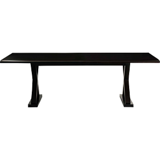 """""""Courrier"""" by Christian Liaigre Modern Ebonized Hardwood Dining Table"""