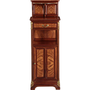 French Art Nouveau Mahogany and Bronze Nightstand by Louis Majorelle