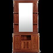 French Art Nouveau Antique Dresser and Mirror by Louis Majorelle c. 1910