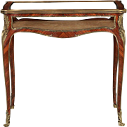 Fine French Louis XV Style Kingwood Vitrine Display Table, 19th Century