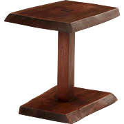 Fine Modern Live-Edge Walnut Side Table by Alan Rockwell circa 1970s