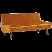 Fine Vintage Scandinavian Modern Sculpted Walnut Sofa c. 1960s
