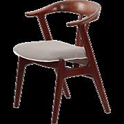 Scandinavian Modern Sculpted Teak Arm Chair circa 1960s