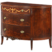 Vintage Edwardian Style Inlaid Mahogany Chest of Drawers