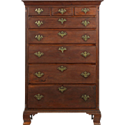 American Chippendale Tall Chest of Drawers, Antique, Pennsylvania c. 1780