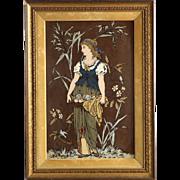 Art Nouveau Porcelain Mettlach Plaque by Villeroy and Boch