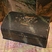 Early Small Wooden Trunk