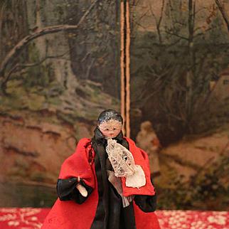 Early Grodnertal Peg Wooden Doll
