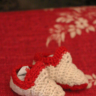 Tiny Early Wool Slip ons for Dolls