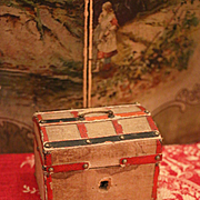 Small Antique Trunk for Fashion Dolls