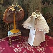 Lovely Antique Pique Dress with Bonnet for Jumeau Dolls