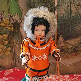 Rare Lenci Felt Eskimo Doll