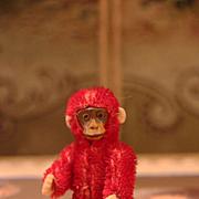 Rare Tiny Red Schuco Monkey