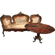 Two Dollhouse pieces by Rock & Graner