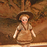 French All-Bisque Mignonette with Original  Costume