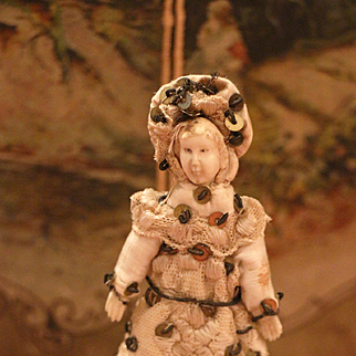 Early Carved Bone Doll